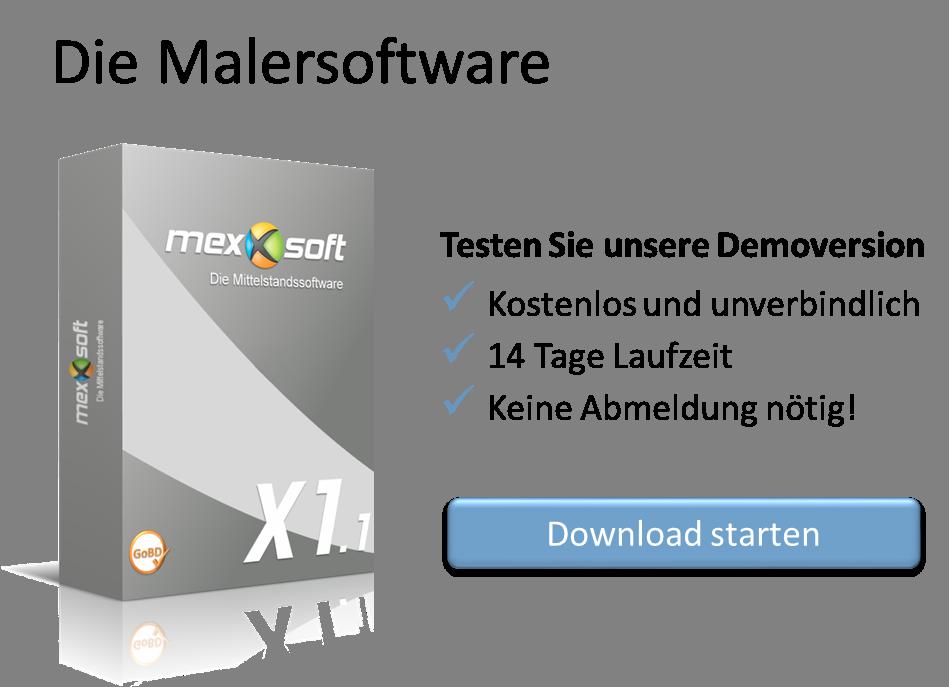 Die Malersoftware mexXsoft X1.1